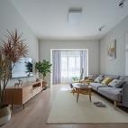 70平米現代簡約—客廳設計圖