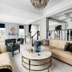 輕奢美式_獨棟別墅——客廳圖片