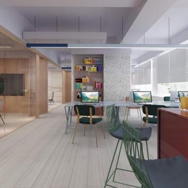 艺科设计|裕和甜品办公室设计,简洁的空间_3872421