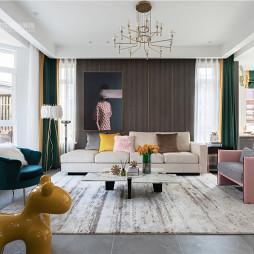 现代轻奢风格,张家口·观澜墅——客厅图片