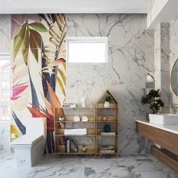 现代轻奢风格,张家口·观澜墅——卫生间图片