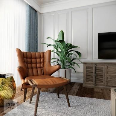 美式厚重與中式古樸混搭,呈現溫文爾雅的家_3903649