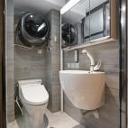 65平一居中式现代——卫生间图片