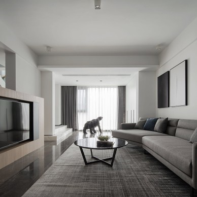 觅白—现代简约——客厅图片