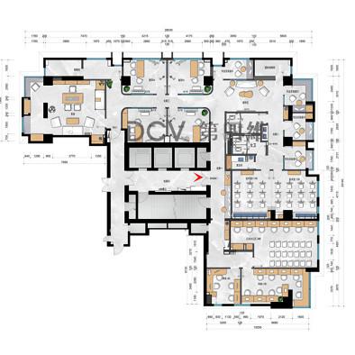 西安-星途易考j长安校区4F室内外设计