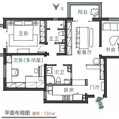 风格低调素雅,日常生活才是家的主角!_3943665