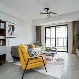 110平米旧房改造, 用简约北欧风变新家——客厅图片