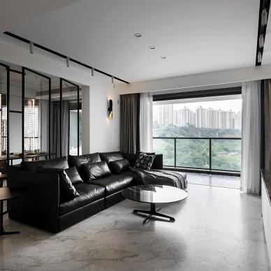 銀色山泉-現代簡約——客廳圖片