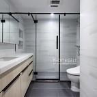 黑白灰的現代簡約——衛生間圖片