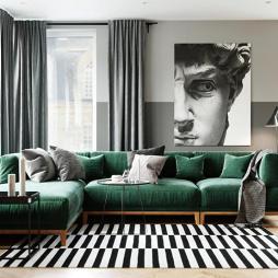 79㎡现代风格两居室公寓设计-刘贺东作品_3966297