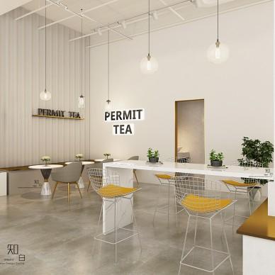 PE网红茶饮店设计_3973774