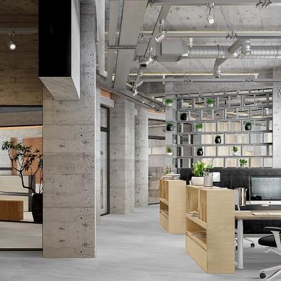 工业风办公空间,复古迷人不失现代格调!