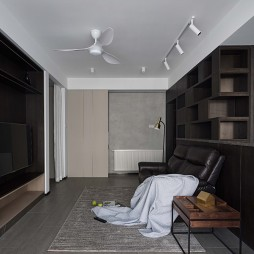 除阳台走道套内55平如何高收纳高颜值三室——客厅图片