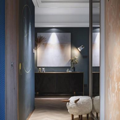 现代简约120平住宅空间——玄关图片