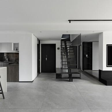 层叠光谱 镂空钢结构楼梯重塑光源_3985956