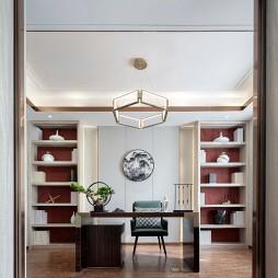 中交·中央公园新中式风格样板间——书房图片