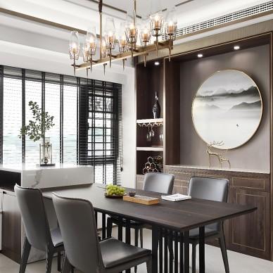130平新中式-餐厅图片