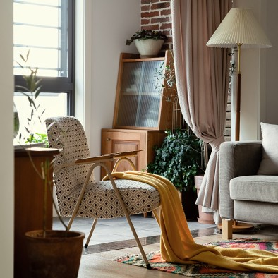 傅晓设计   110㎡三居室中古风