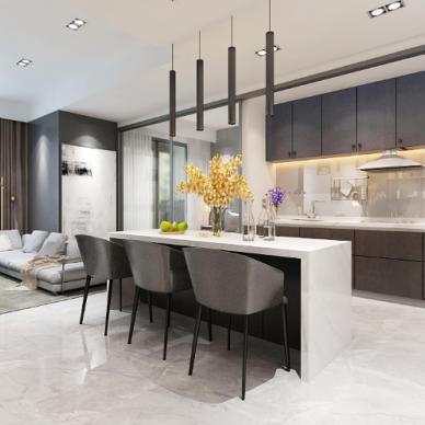 加拿大公寓装修设计室内设计效果图_4083950