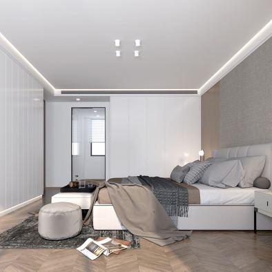 300平米充满艺术感的现代简约三口之家