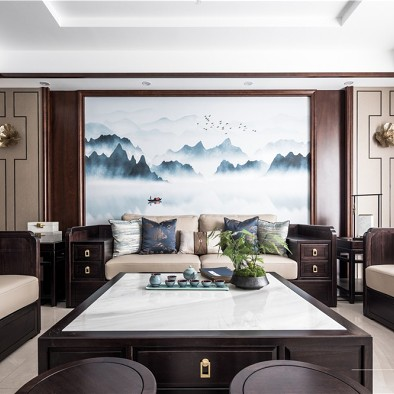 米邦装饰 187㎡ 新中式风格