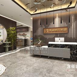 郑州新中式轻奢办公室装修-华融地产公司_1589361600_4141389