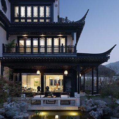 用艺术的现代主义讲述当代中式的庭院生活_1592296416_4175943