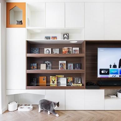 这家的电视柜既能收纳,也是喵星人乐园_4177411