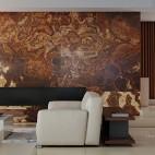 现代简欧客厅沙发背景