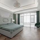浅绿色卧室装修效果图