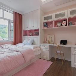 粉色儿童房图片