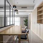 开放式书房长桌子设计
