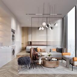 单身公寓样板间设计-户型B_1594179252_4196744