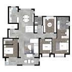 190平米四居室户型图