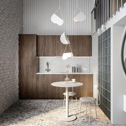 小型公寓吧台厨房
