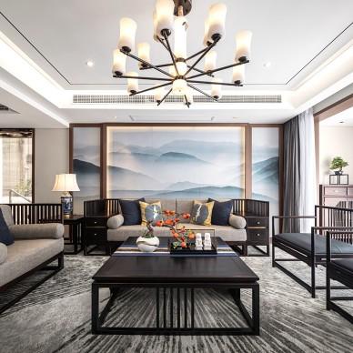中式客厅装饰柜效果图