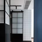 卫生间玻璃谷仓门图片