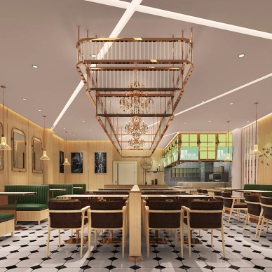 粤冰室 港式茶餐厅 简约轻奢港风餐饮设计_1597651730_4235857