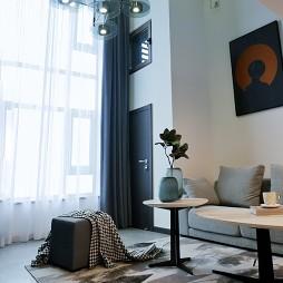 40 平米 黑白loft_1597807162_4237504