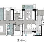139平米三居室户型图