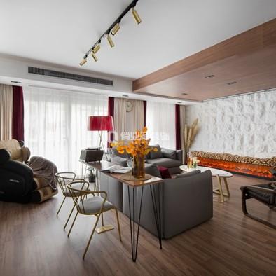 重庆江山樾4房现代风格装修设计案例作品