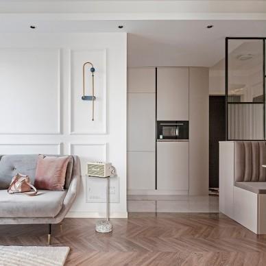 90㎡两居室打造优雅轻奢甜美浪漫北欧风_1602125691_4280560