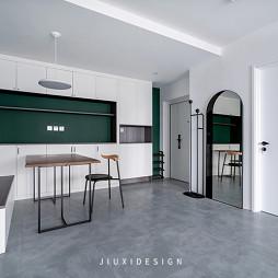 墨绿+白,轻奢气质打造复古简约美宅_1602210183_4281394