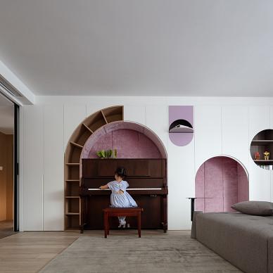 多功能设计,打造四口之家的萌趣互动空间_1607072283_4333394