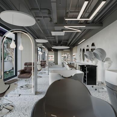 理发店设计-工业风与艺术极简中的平衡_1609747990_4355623