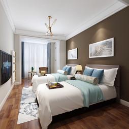 卧室实拍效果图张家界中达装饰新房装修_1611112895_4366732