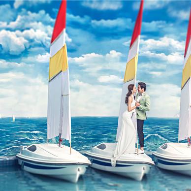 婚纱摄影基地 实景拍摄效果_4374363