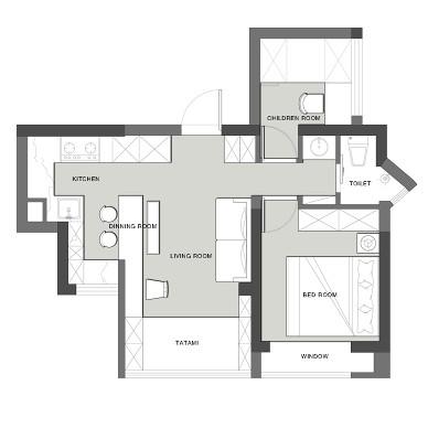 41㎡日系逆天改造,拥有大客厅+大厨房。_1615962379_4398799