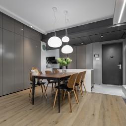 四居室开放厨房+客餐厅,满墙书柜亲子空间_1616207569_4401260