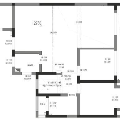 200平现代简约复式,多种材质拼接_1616742299_4406635